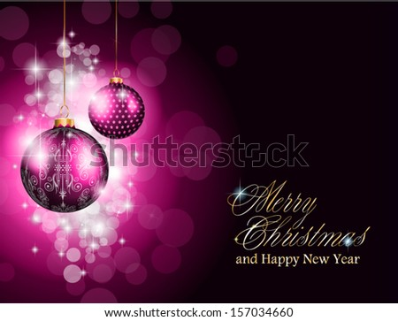 Christmas and new year Themed frame with a lot of falling snow balls. - stock vector