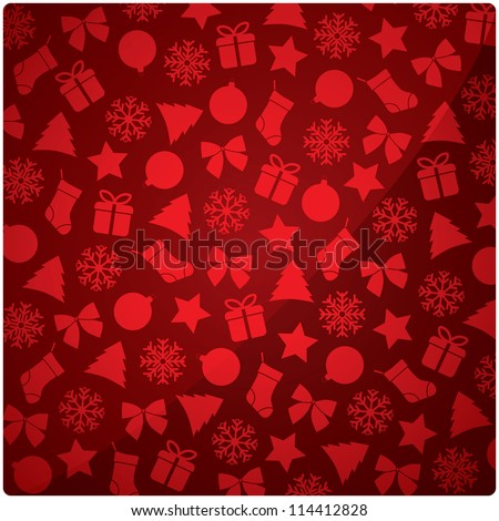 Christmas and New Year vector background - stock vector