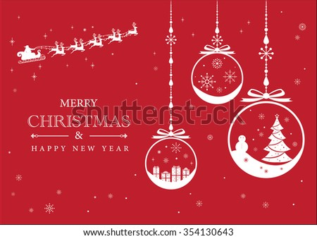 Christmas and New Year vector background template