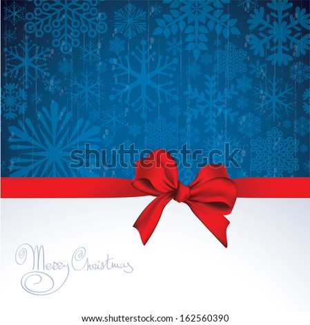 Christmas and new year vector greeting card template. - stock vector