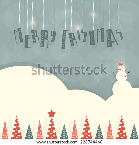 Christmas and New Year vector greeting card. Xmas illustration and design element. Great card, wrapping paper or backdrop. Handlettering invitation. Typography hand drawn unique card design. - stock vector