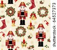 Christmas and New Years seamless pattern - stock photo
