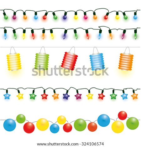 Christmas and party lights vector  - stock vector
