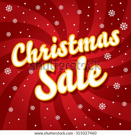 Christmas and seasonal sale and discounts retail banner and poster - stock vector