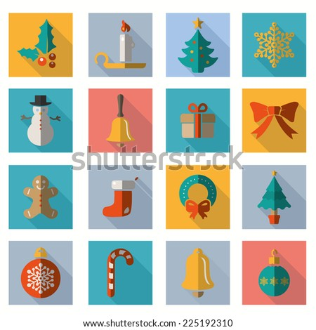 Christmas and Winter icons collection - vector