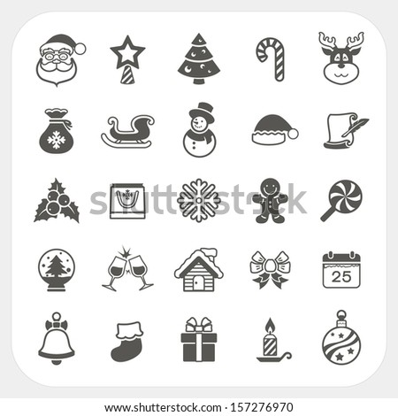 Christmas and Winter icons set, Vector - stock vector