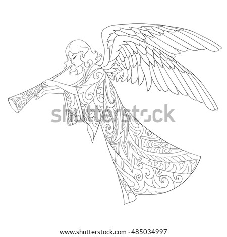 fly angel coloring pages - photo#9