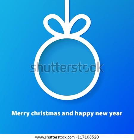 Christmas applique background. + EPS8 vector file - stock vector
