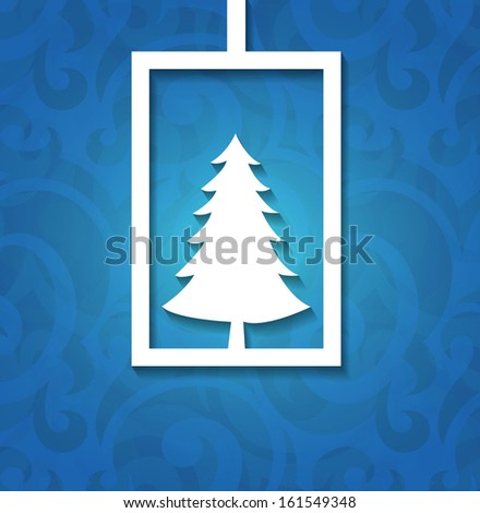 Christmas applique background. Vector illustration