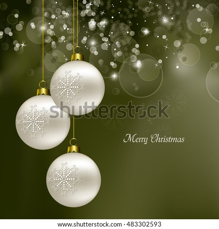 Christmas Background. Abstract Green Design.