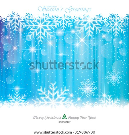 Christmas Background. Abstract snowflakes blue background. - stock vector