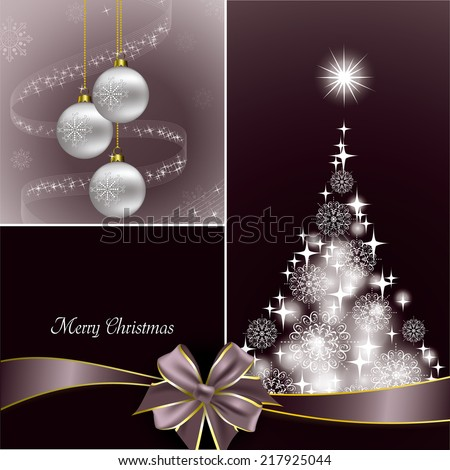 Christmas Background. Abstract Vector Design. - stock vector