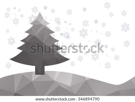 Christmas Background. Beautiful abstract snowflake Vector Illustration. Eps10.