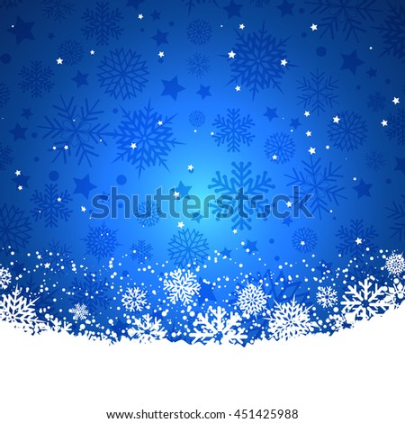 Christmas background blue - stock vector
