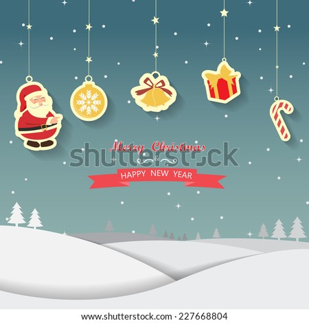 Christmas background, card, backdrop, vector - stock vector
