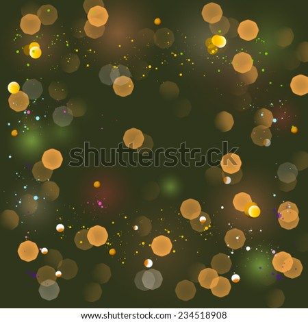Christmas background, card, flickering - stock vector