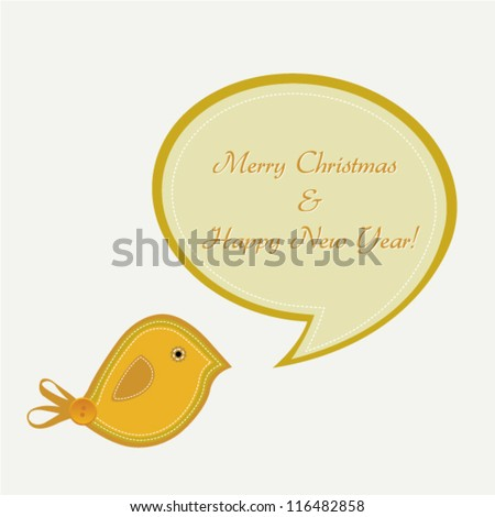 Christmas Background/Christmas bird