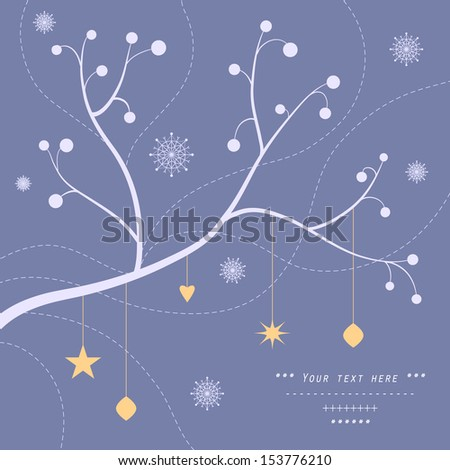 Christmas Background, christmas decorations, snowflakes - stock vector