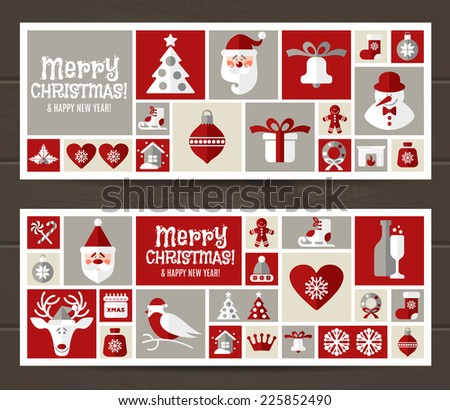 Christmas background decoration. - stock vector