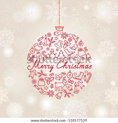 Christmas background doodle christmas holiday greeting stock vector doodle christmas holiday greeting card design elements merry christmas and happy new m4hsunfo