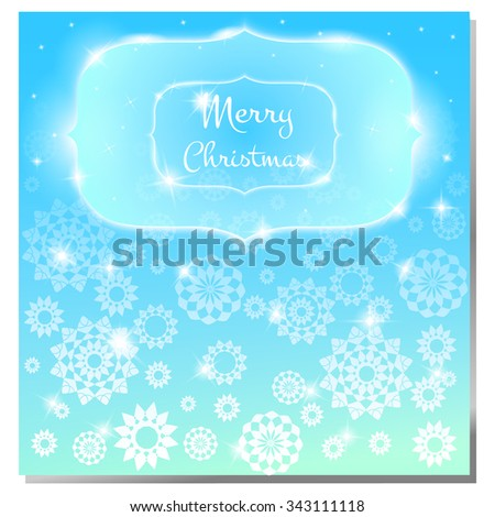 Christmas background. flyer page. traditional gritting card or invitation, label, banner, design. Decorative beautiful pink background with gentle paper white snowflakes.