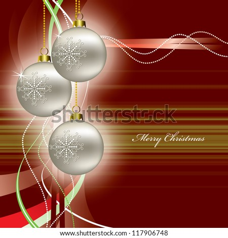 Christmas Background in Eps10 Format. - stock vector