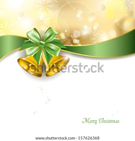 Christmas Background. Jingle Bells. - stock vector