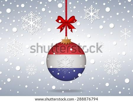 Christmas background Netherlands - stock vector