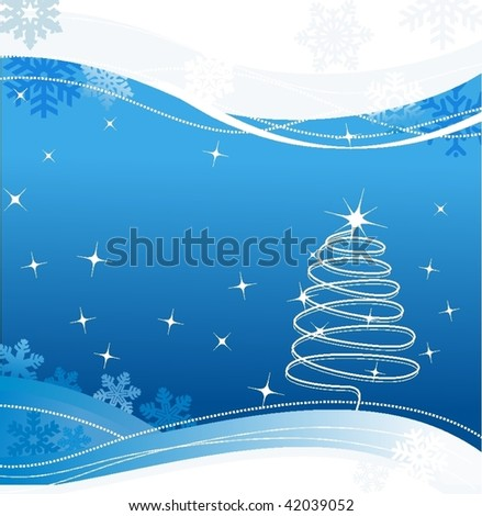 Christmas background or greeting card VECTOR