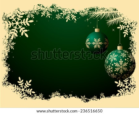 Christmas Background - Retro color style - stock vector
