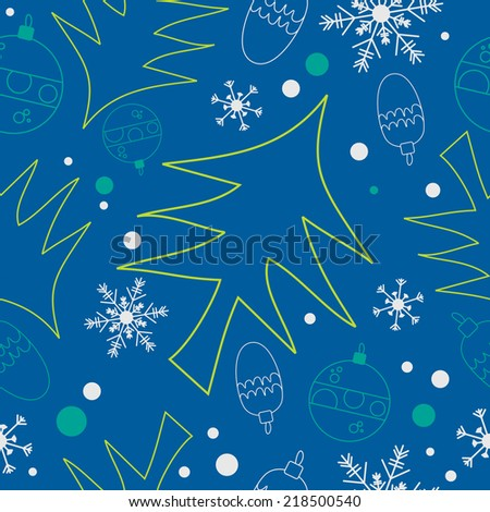 Christmas background, seamless. Great for wrapping paper pattern