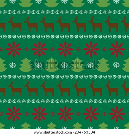 christmas background. seamless pattern - stock vector