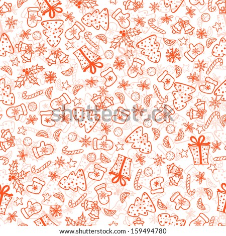 Christmas background, seamless tiling - stock vector