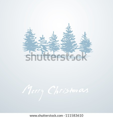 Christmas background - simple Christmas card - stock vector