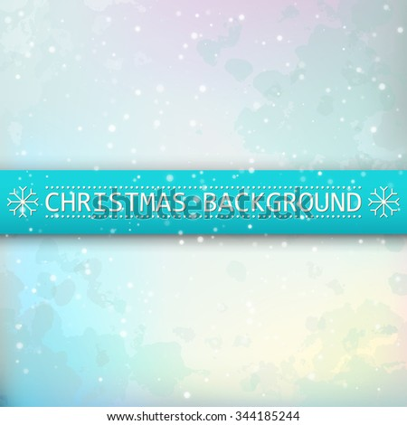 Christmas background snow-covered. Greeting card with winter landscape2. The image can be used as a greeting card, flyer, wallpaper, Promotions, book cover [Converted]