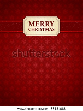 Christmas background snowflakes pattern vector image. Eps 10. - stock vector