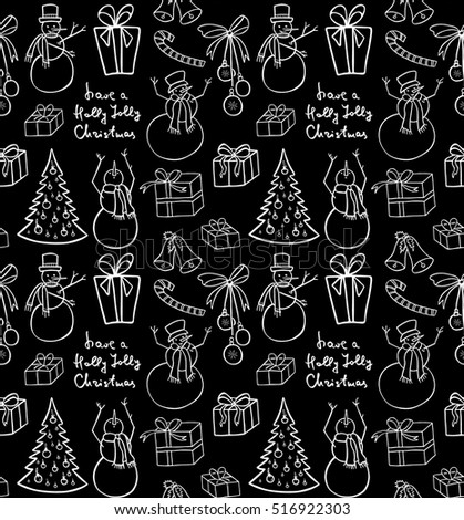 Christmas Background Snowmen Illustration For A Wrapping Paper Wallpaper Elements Winter
