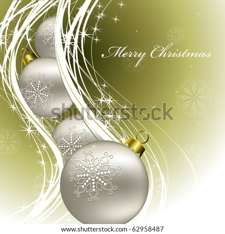 Christmas Background. Vector. - stock vector