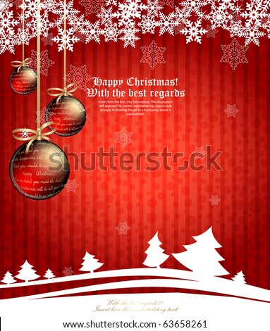 Christmas background. Vector - stock vector