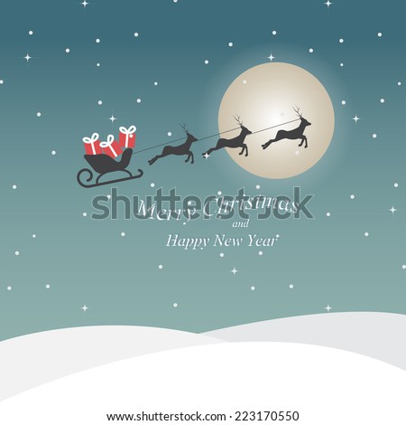 Christmas background, vector, can be use for card, backdrop - stock vector