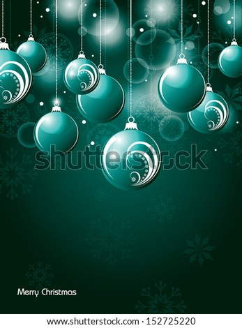Christmas Background. Vector Design.