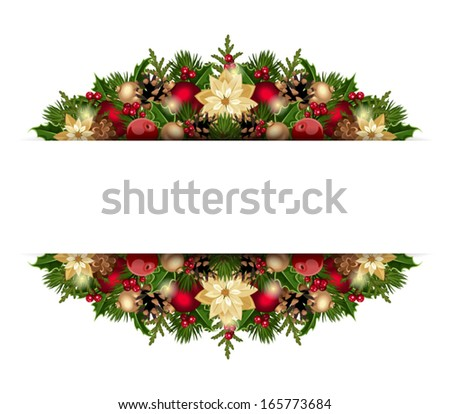 Christmas background. Vector eps-10. - stock vector