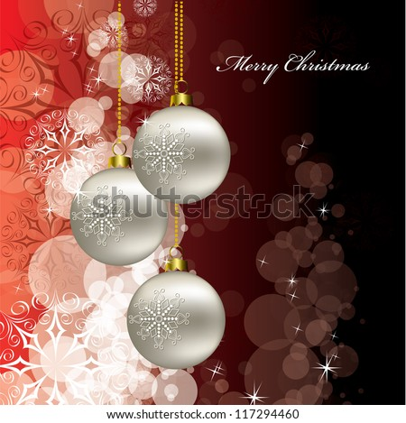 Christmas Background. Vector Eps10 Format. - stock vector