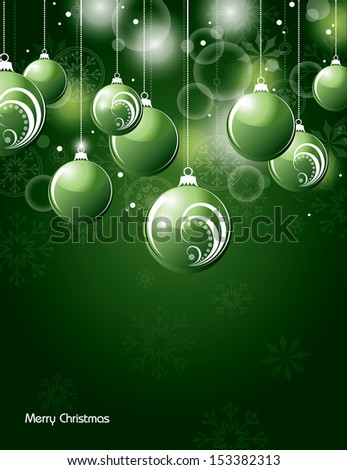 Christmas Background. Vector Eps10 Illustration.