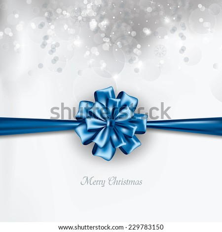 Christmas Background. Vector Greeting Card. - stock vector