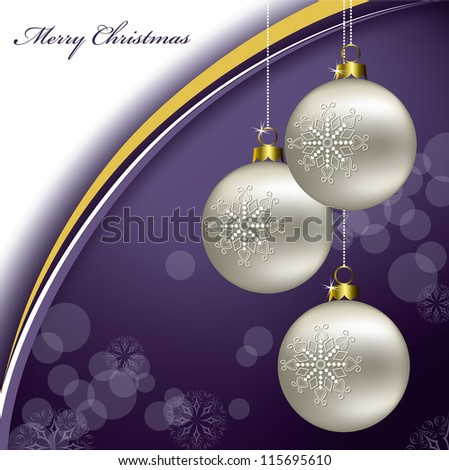 Christmas Background. Vector Illustration in Eps10 Format. - stock vector