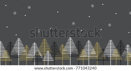 Christmas background with abstract trees. To use, for example, for a christmas card.