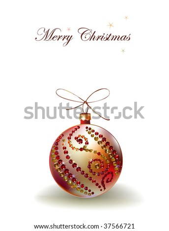 Christmas background with beaded ball