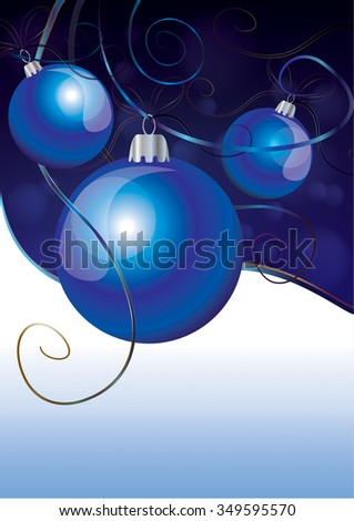 Christmas-background-with-blue-balls-and-gold-ribbons