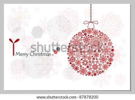 Christmas background with christmas ball illustration.